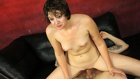 Indigo Lotus Sits on a Cock and Rides It Deep